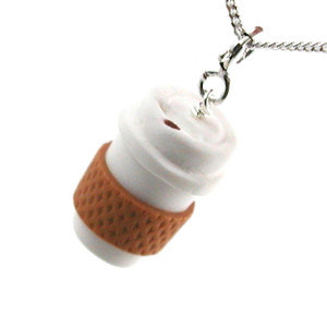 take out coffee necklace by inedible jewelry