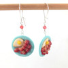 bacon and eggs earrings, handmade by inedible jewelry