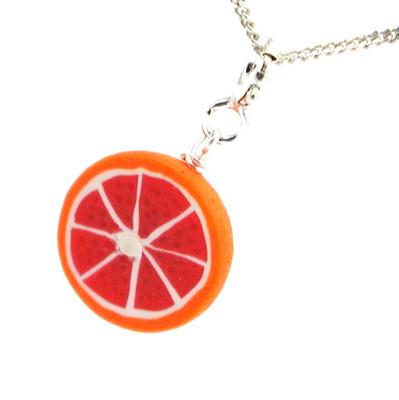 grapefruit necklace by inedible jewelry