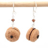 mocha macaron earrings by inedible jewelry