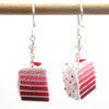pink ombre earrings by inedible jewelry