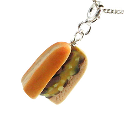 cheesesteak necklace by inedible jewelry