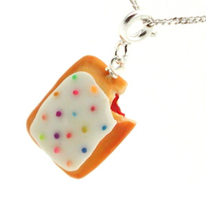 toaster pastry necklace