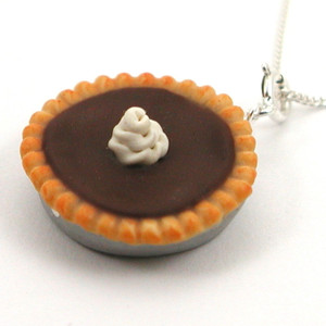 French silk pie necklace by inedible jewelry