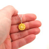 lemon half necklace by inedible jewelry