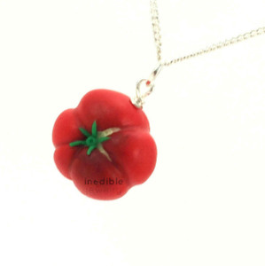 heirloom tomato necklace by inedible jewelry