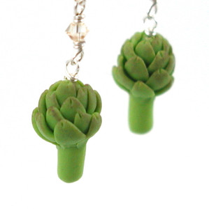 artichoke earrings by inedible jewelry