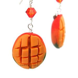 mango earrings by inedible jewelry