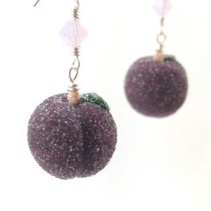sugar plum earrings by inedible jewelry