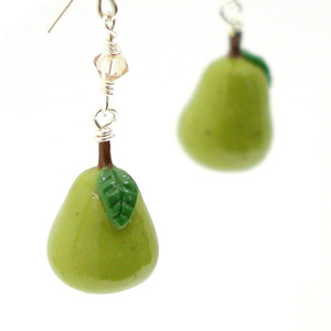 pear earrings by inedible jewelry