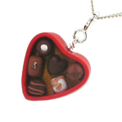 box of chocolates necklace by inedible jewelry