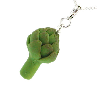 artichoke necklace by inedible jewelry