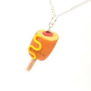 corn dog necklace by inedible jewelry