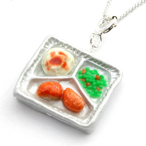 TV dinner necklace by inedible jewelry