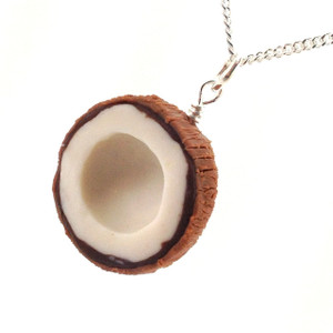 coconut necklace by inedible jewelry