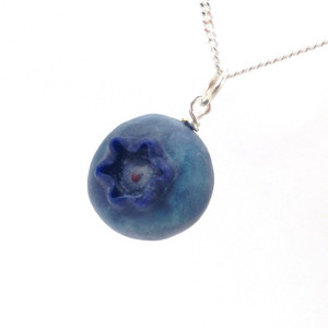 blueberry necklace by inedible jewelry