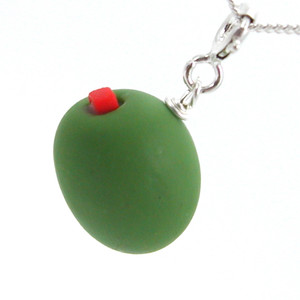 olive necklace by inedible jewelry