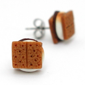 smores studs by inedible jewelry