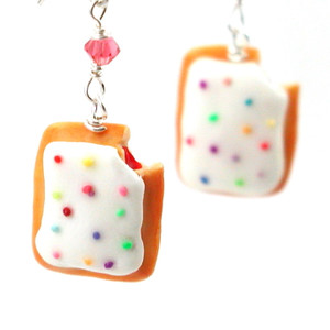 toaster pastry earrings
