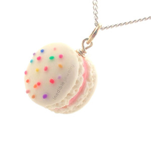 birthday macaron necklace by inedible jewelry