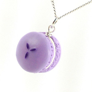 lavender lemon macaron necklace by inedible jewelry