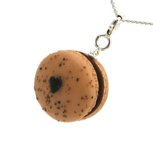 mocha macaron necklace