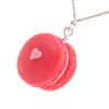 strawberry macaron necklace by inedible jewelry