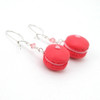 strawberry macaron earrings by inedible jewelry