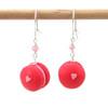 strawberry macaron earrings by inedible jewelry