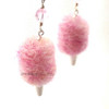 cotton candy earrings by inedible jewelry