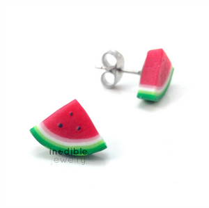 watermelon studs by inedible jewelry