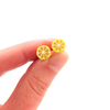 lemon studs by inedible jewelry