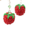 raspberry earrings by inedible jewelry