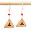 raspberry hamantaschen earrings by inedible jewelry