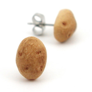 potato studs by inedible jewelry