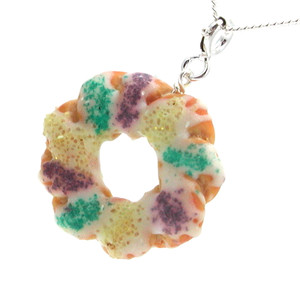 king cake necklace by inedible jewelry