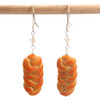 challah bread earrings by inedible jewelry