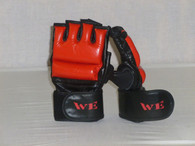 W.E. MMA GLOVES (BLACK/RED)