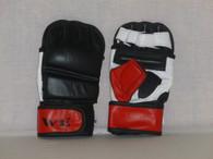W.E. MMA GLOVES (BLACK/RED/WHITE)
