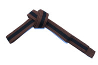 Brown Karate Belt with Black Stripe