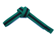 Green Karate Belt with Black Stripe