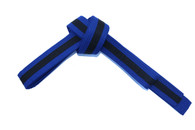 Blue Karate Belt with Black Stripe