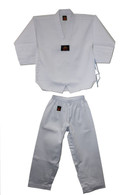 Ribbed Taekwondo White Uniform