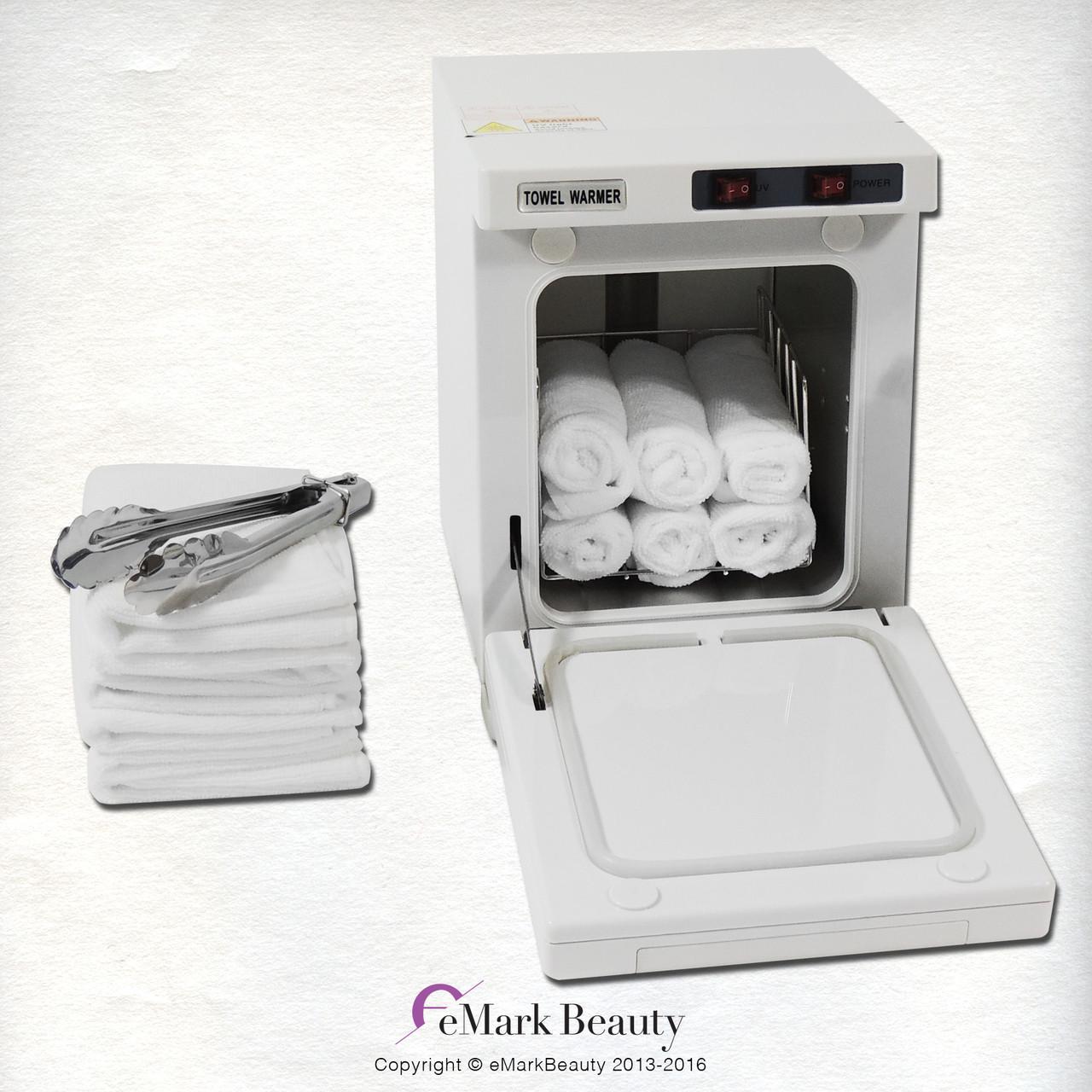 Mini Hot Towel Warmer Cabinet UV Sterilizer 12 Free Towels Facial ...