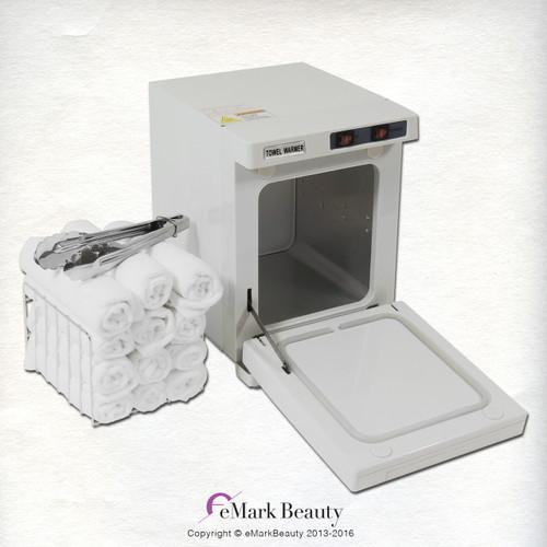 Mini Hot Towel Warmer Cabinet UV Sterilizer 12 Free Towels Facial Nail Spa Beauty Salon  Equipment TLC-3001