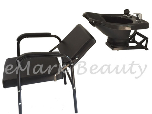 ... Salon Backwash Sh&oo Bowl Sink Wall Mounted Reclining Sh&oo Chair B-13WT-216A ...  sc 1 st  eMark Beauty & Salon Backwash Shampoo Bowl Sink Wall Mounted Reclining Shampoo ... islam-shia.org