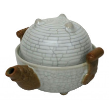 Chinese Dragon Egg Tea Set for One - Dragon Egg Shape - Wooden Gift Box