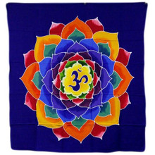 Om Flower of Life - Batik Wall Hanging -  110cmx 98cm