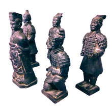 Terracotta Warriors - Set of 5 Chinese Figures - 18 - 21cm Tall - Boxed