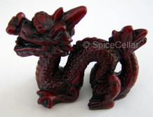 Chinese Dragon Statue - 6cm - Red Resin - Feng Shui